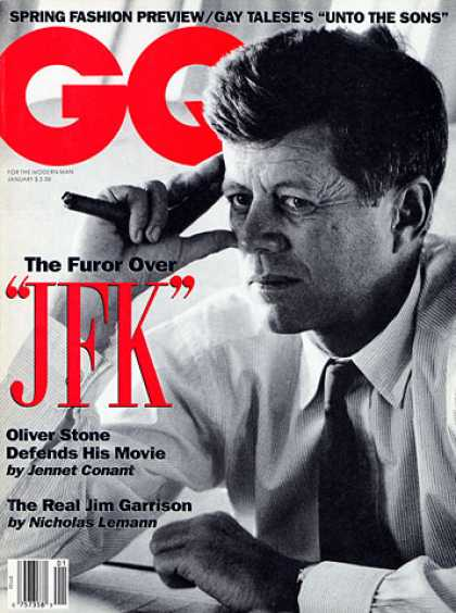 GQ - January 1992 - JFK
