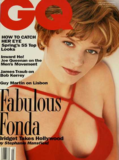 GQ - March 1992 - Bridget Fonda