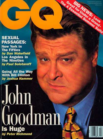 GQ - April 1992 - John Goodman