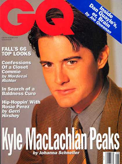 GQ - August 1992 - Kyle MacLachlan