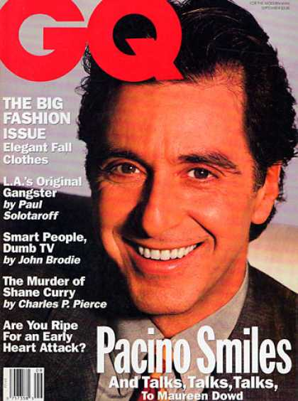 GQ - September 1992 - Al Pacino