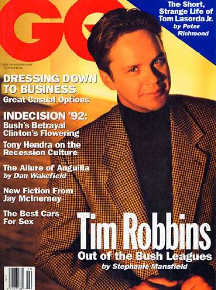 GQ - October 1992 - Tim Robbins