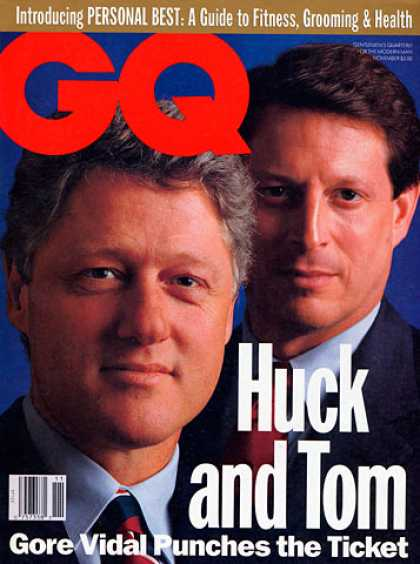 GQ - November 1992 - Bill Clinton and Al Gore