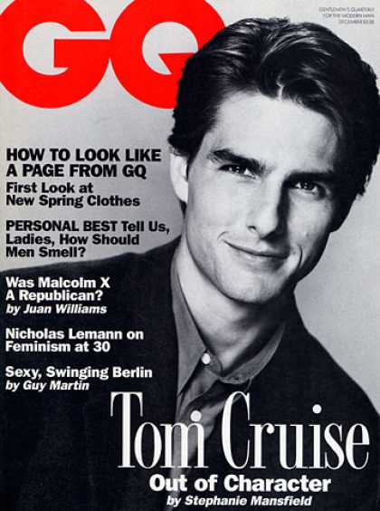 GQ - December 1992 - Tom Cruise
