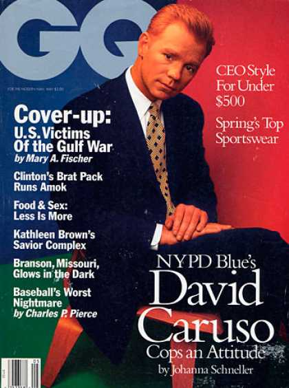 GQ - May 1994 - David Caruso