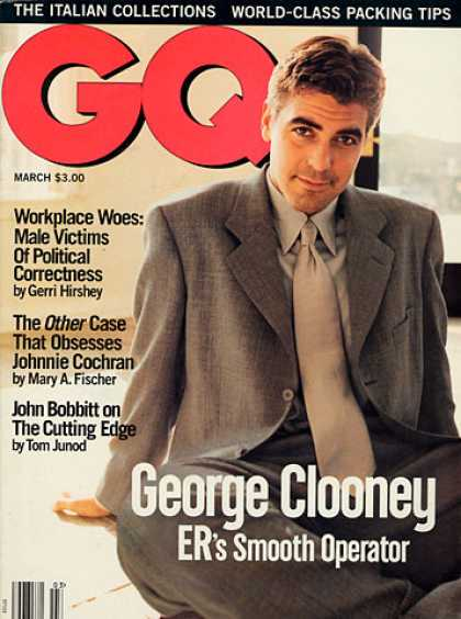 GQ - March 1995 - George Clooney