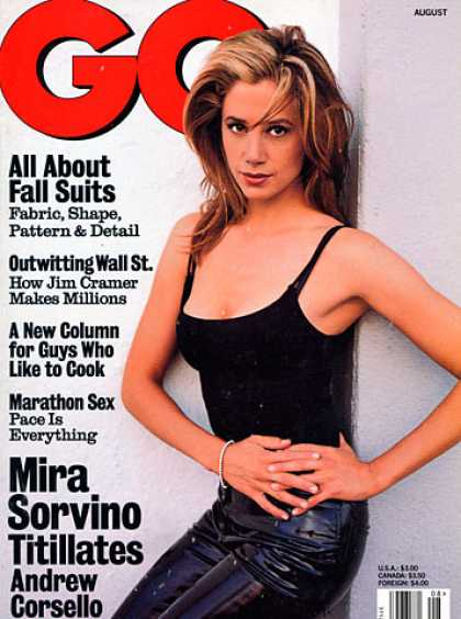 GQ - August 1997 - Mira Sorvino