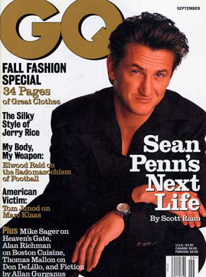 GQ - September 1997 - Sean Penn