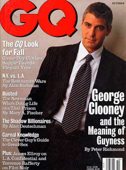 GQ - October 1997 - George Clooney