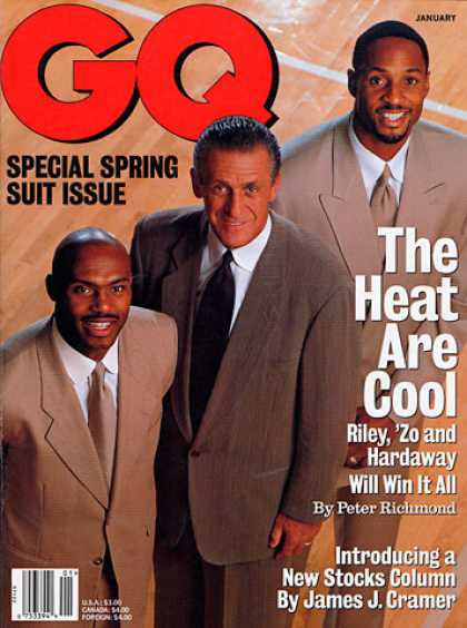 GQ - January 1998 - Riley, 'Zo and Hardaway Will Win It All
