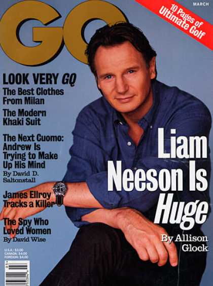 GQ - March 1998 - Liam Neeson