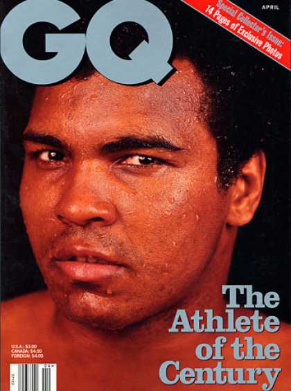 GQ - April 1998 - Muhammad Ali