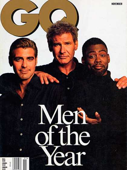 GQ - November 1998 - George Clooney, Harrison Ford, Chris Rock