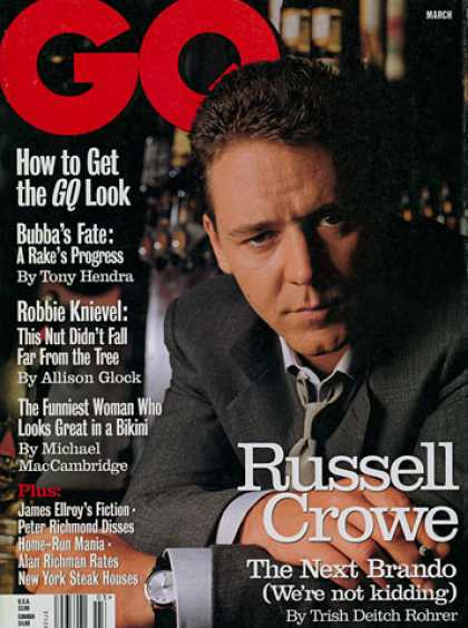 GQ - March 1999 - Russell Crowe