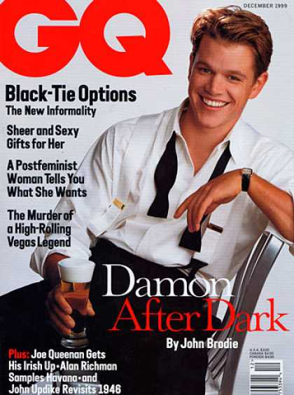 GQ - December 1999 - Matt Damon