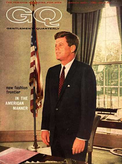 GQ - March 1962 - JFK