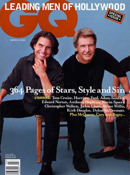 GQ - March 2000 - Tom Cruise and Harrison Ford