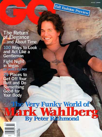 GQ - July 2000 - Mark Wahlberg