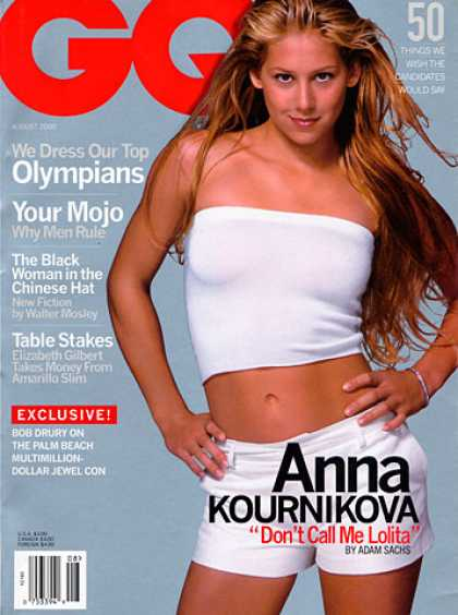 GQ - August 2000 - Anna Kournikova