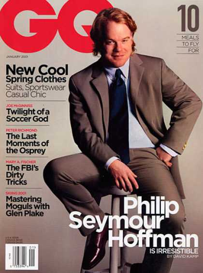GQ - January 2001 - Philip Seymour Hoffman