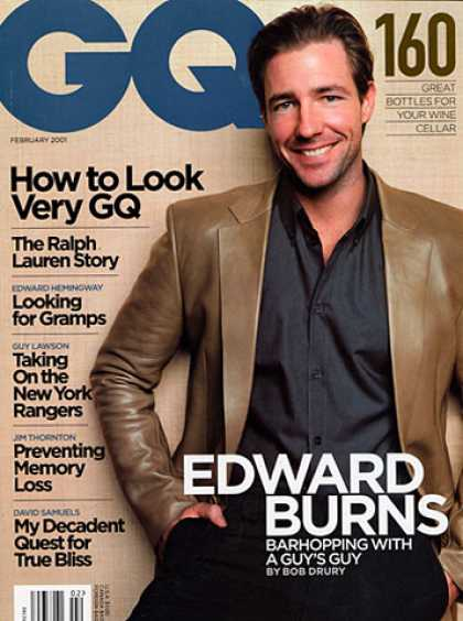 GQ - February 2001 - Edward Burns