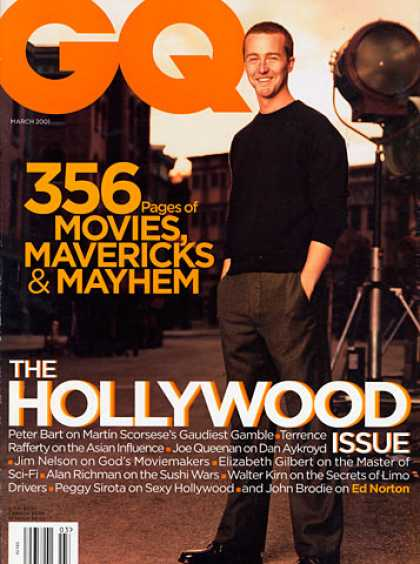 GQ - March 2001 - Edward Norton