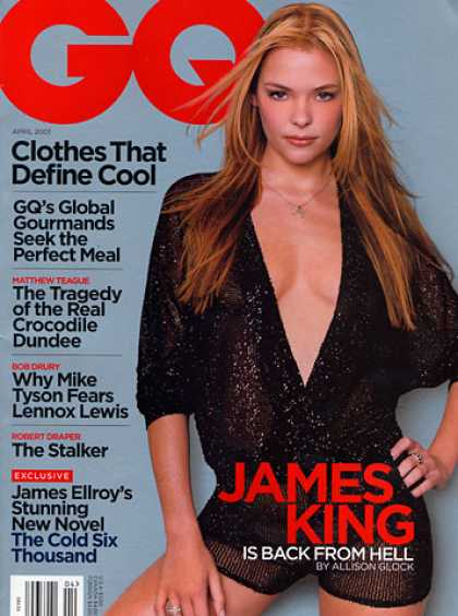 GQ - April 2001 - James King Is Back From Hell