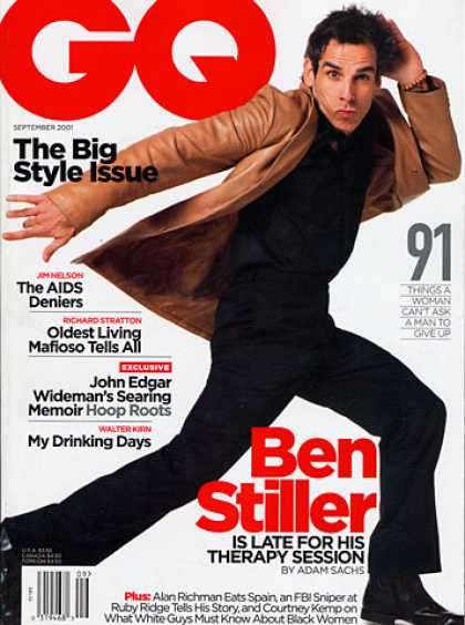 GQ - September 2001 - Ben Stiller