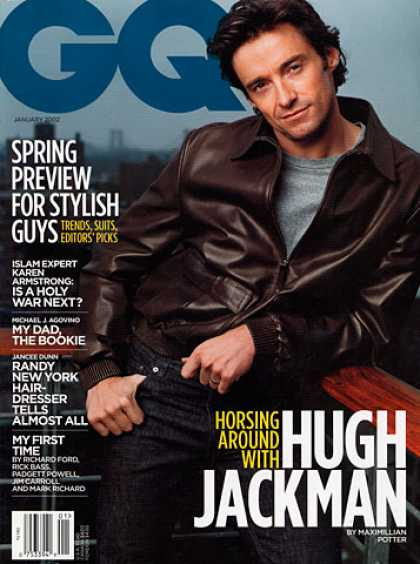 GQ - January 2002 - Hugh Jackman
