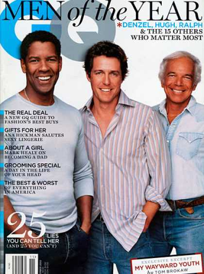 GQ - November 2002 - Denzel Washington, Hugh Grant