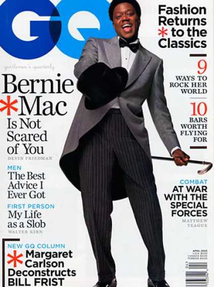GQ - April 2003 - Bernie Mac