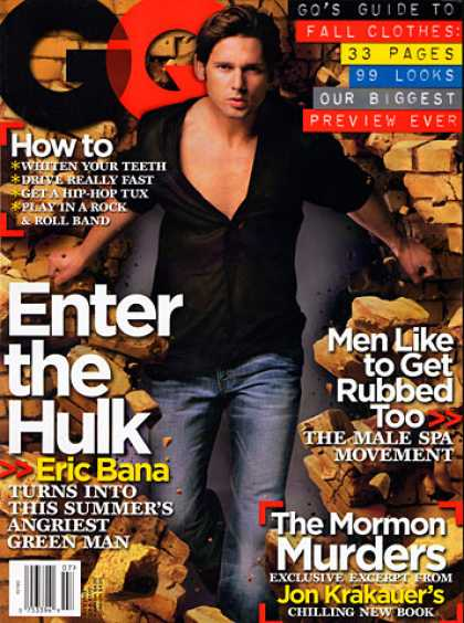 GQ - July 2003 - Eric Bana