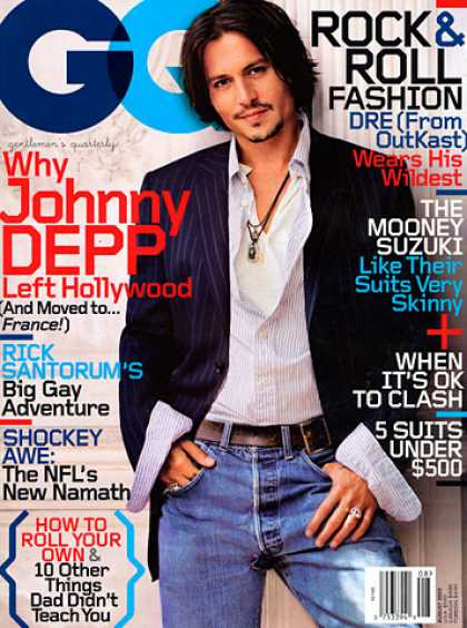 GQ - August 2003 - Johnny Depp