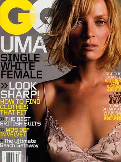 GQ - December 2003 - Uma Thurman