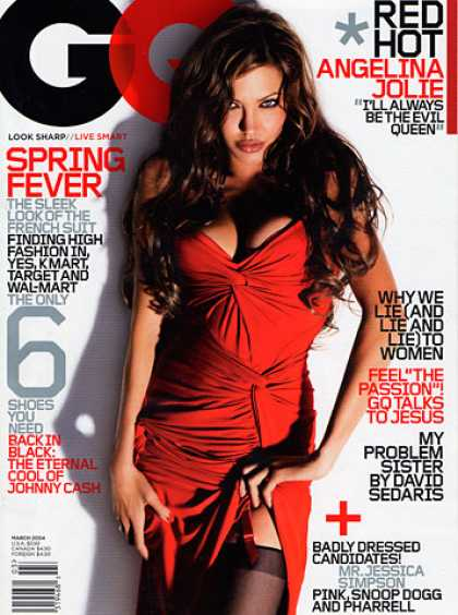 GQ - March 2004 - Angelina Jolie