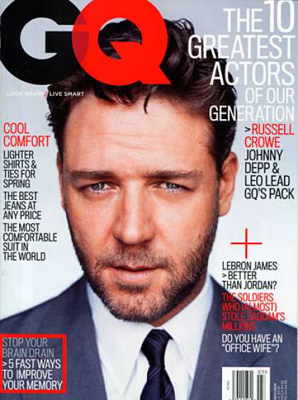 GQ - March 2005 - Russell Crowe