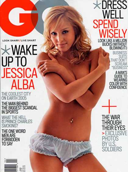 GQ - April 2005 - Jessica Alba
