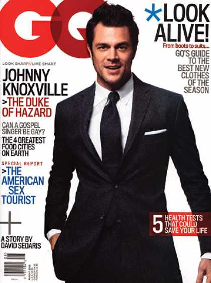GQ - August 2005 - Johnny Knoxville