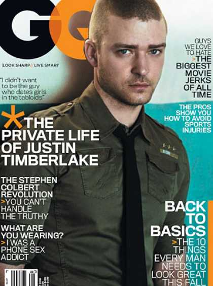 GQ - August 2006 - Justin Timberlake