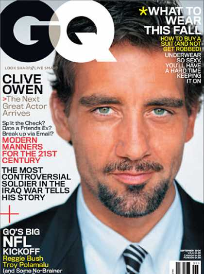 GQ - September 2006 - Clive Owen