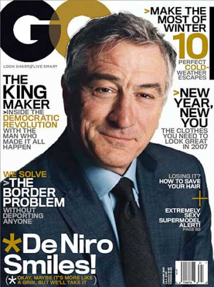 GQ - January 2007 - Robert De Niro