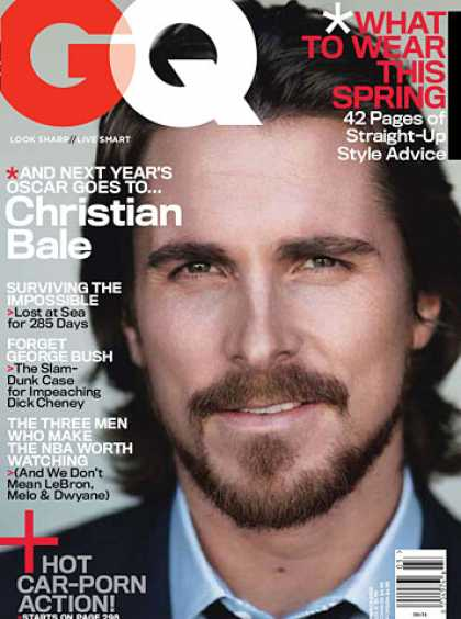 GQ - March 2007 - Christian Bale