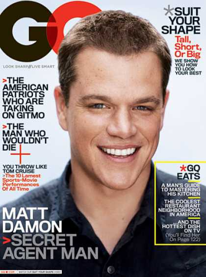 GQ - August 2007 - Matt Damon