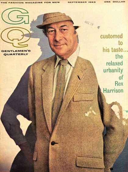 GQ - September 1963 - Rex Harrison