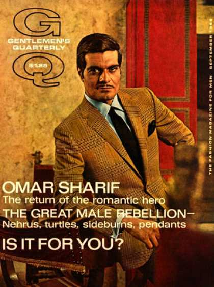 GQ - September 1968 - Omar Sharif
