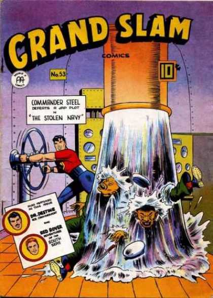 Grand Slam Comics 53 - Commander Steel - The Stolen Navy - Dr Destine - Red Rover - South Seas