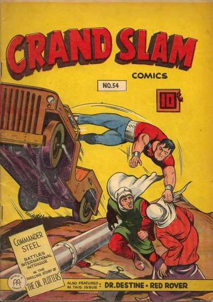 Grand Slam Comics 54 - Jeep - 10u00a2 - Commander Steel - No54 - The Oil Plotters