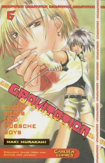 Gravitation 6 - German Comic - Blonde Smoking - Singer In The Front - Japanamation Comic - Volume 6