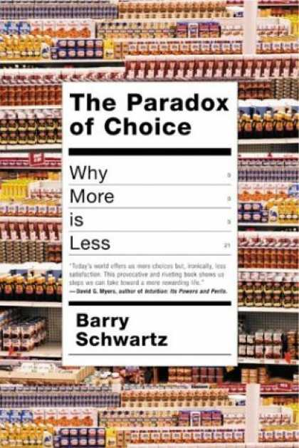 Greatest Book Covers - The Paradox of Choice