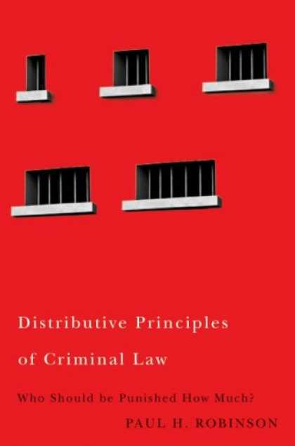 Greatest Book Covers - Distributive Principles of Criminal Law